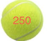 250 Tennis Balls