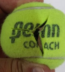 Pre Cut Tennis Balls Classroom Chairs Cut on Logo